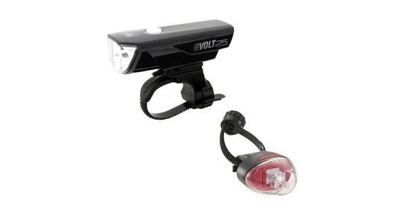 CatEye GVOLT25/Rapid1G Beleuchtungsset EL360GRC/LD611G schwarz